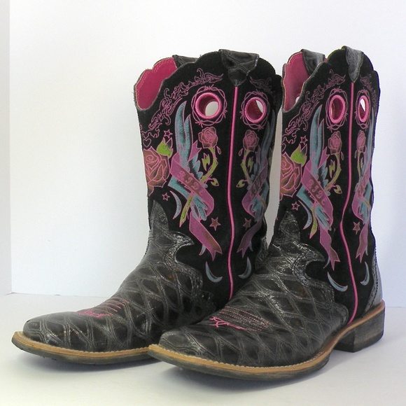 Pink Cowboy Boots Sz8   Poshmark